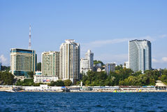 Sochi, view from the sea Stock Images