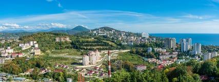 Sochi von der Höhe des Vogelfluges Stockfotografie