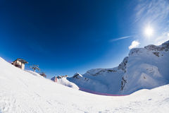 Sochi winter landscape of Caucasus mountains Stock Image