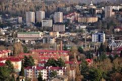 Sochi-Winterlandschaft Lizenzfreie Stockfotos