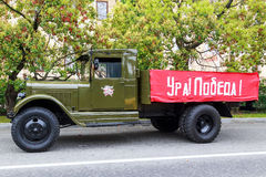 Sochi zwycięstwa dnia samochodów uroczysta kawalkada samochodów Zdjęcie Stock