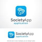 Société APP Logo Template Design Vector, emblème, concept de construction, symbole créatif, icône Image libre de droits