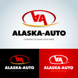 Société automobile Logo Vector Design Concept calibre de logotype de 2 double lettres d'A Version de vecteur Photos libres de droits