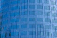 Société bleue, immeuble de bureaux Image libre de droits