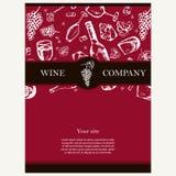 Société de vin Thème de restaurant Template de corporation pour des dessin-modèles d'affaires Tem de document Image stock