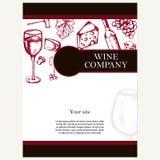 Société de vin Thème de restaurant Template de corporation pour des dessin-modèles d'affaires Tem de document Images libres de droits