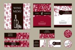 Société de vin Thème de restaurant Template de corporation pour des dessin-modèles d'affaires Tem de document Photographie stock libre de droits