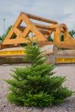 Société en bois de centrum de hout de photo image libre de droits