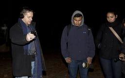 Société paranormale de Brooklyn pendant l'enquête Images stock