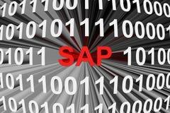 Société, un fabricant de logiciel pour des organismes SAP Photographie stock libre de droits