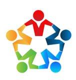 Soci commerciali di lavoro di squadra Immagini Stock Libere da Diritti