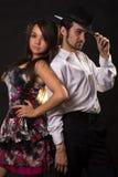 Soci di Dancing fotografie stock