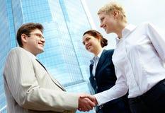 Soci di Handshaking Immagine Stock