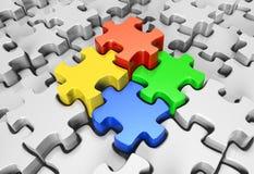 Soci di puzzle Fotografia Stock