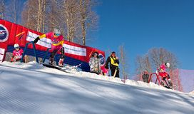 Soci 2014 - parco olimpico, Roza Khutor, pista Immagini Stock