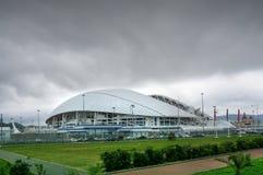 Soci, Russia - 31 maggio 2017: Parco olimpico e stadio di Fisht per i giochi di olimpiade invernale 2014 Stadio di football ameri Fotografia Stock Libera da Diritti