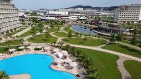 Soci, Russia - 31 maggio parco a tre stelle di Soci dell'hotel 201, Timelapse stock footage