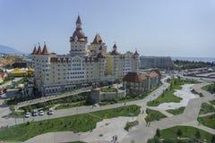 Soci, Russia - 11 settembre 2017: Hotel Bogatyr Fotografie Stock Libere da Diritti