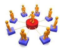 Sociaal 3D Netwerk Royalty-vrije Stock Afbeelding