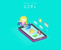 Sociaal actief meisje Stock Fotografie