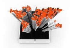Sociaal of bedrijfsnetwerk Stock Foto's