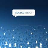 Sociaal communicatie concept Vector Royalty-vrije Stock Foto's