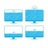 Sociaal de ladingsniveau van de netwerkmonitor met het patroon stock foto's
