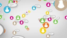 Sociaal de media van de netwerklijn concept skype royalty-vrije illustratie