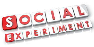 Sociaal Experiment Royalty-vrije Stock Afbeeldingen