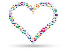 Sociaal hart Stock Foto's