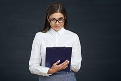 Sociaal het gedrags openbaar onderzoek van de werknemersvrouw Onderneemster met Stock Foto's