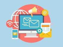 sociaal marketing concept vector illustratie