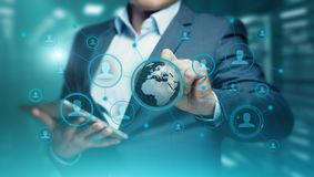 Sociaal Media Communication-van Bedrijfs netwerkinternet Technologieconcept Royalty-vrije Stock Afbeeldingen