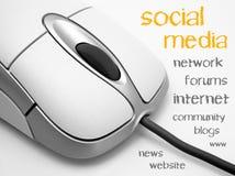 Sociaal media concept Royalty-vrije Stock Afbeeldingen