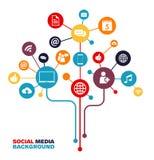 Sociaal Media Concept - Connectiviteit, Voorzien van een netwerk Royalty-vrije Stock Afbeeldingen