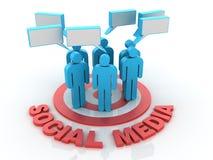 Sociaal Media Doel stock illustratie