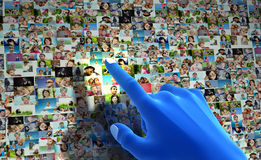 Sociaal media netwerk. Royalty-vrije Stock Afbeeldingen