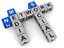 Sociaal media netwerk Stock Afbeeldingen