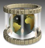 Sociaal media netwerk Stock Foto's