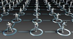 Sociaal media netwerk vector illustratie