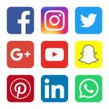 Sociaal Media Officieel Embleem Royalty-vrije Stock Afbeelding