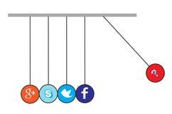 Sociaal media pictogram Stock Afbeelding