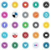 Sociaal media pictogram Stock Fotografie