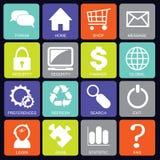 Sociaal media pictogrammenvierkant Stock Afbeeldingen