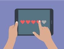 Sociaal media voorzien van een netwerk Stock Afbeelding