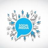 Sociaal media Webconcept stock illustratie