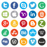 Sociaal media/Webpictogram Stock Fotografie