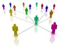 Sociaal netwerk royalty-vrije illustratie
