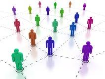 Sociaal netwerk stock illustratie