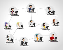 Sociaal netwerk. royalty-vrije illustratie